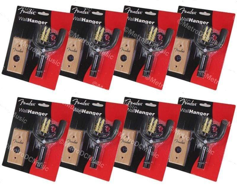 FENDER PARTS ACCESSORIES GUITAR HANGERS 8-Pack Fender Guitar Hanger Natural Wood Wall Mount Hook w/Hardware 0991040281