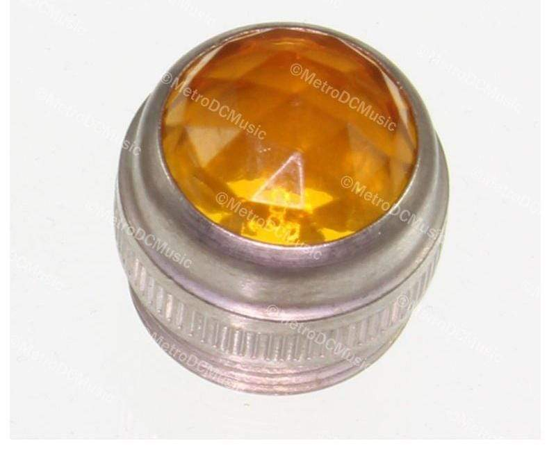 FENDER PARTS ACCESSORIES JEWEL LENSES & BULBS Genuine Fender AMBER Amplifier Jewel Pure Vintage Lens Amp NEW