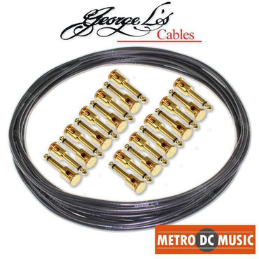 George L/'s 15/' .225 Instrument Guitar Cable BLACK BLUE Right Angle Straight
