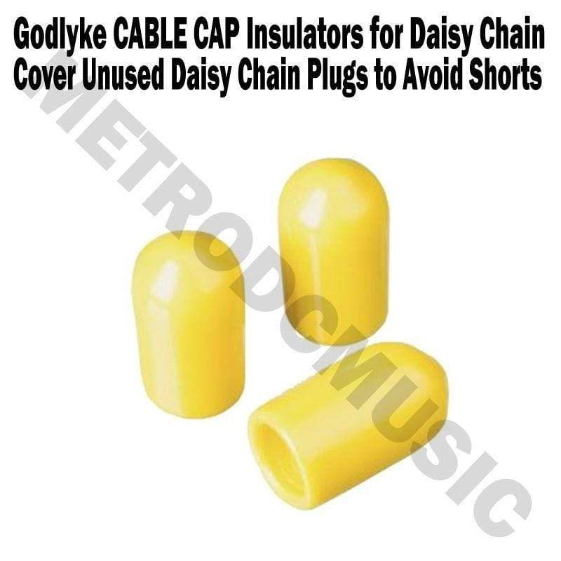 GODLYKE PEDAL POWER & CABLES Godlyke Power-All CABLE CAP Insulators Bag of 3 Cover Unused Daisy Chain Plugs