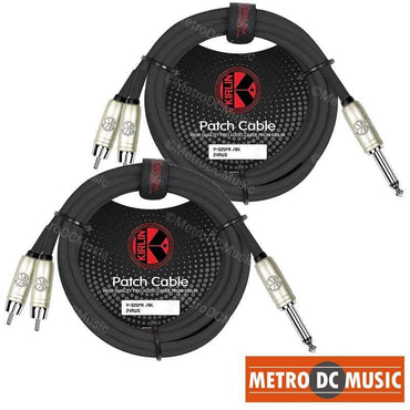 """Kirlin MP-483PA 3ft XLR 3-Pin Male to 1//4/"""" TRS Male Patch Cable OFC Conductors"""