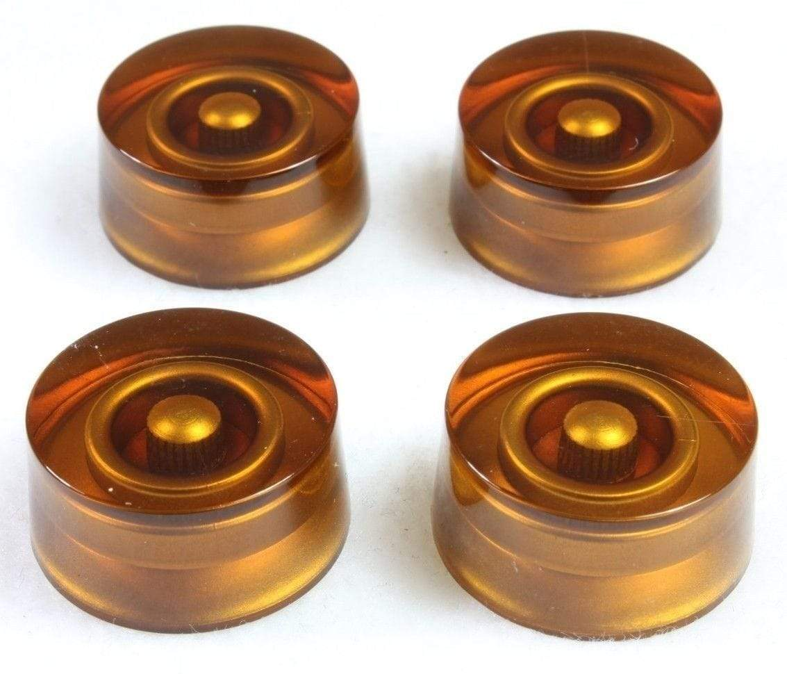METRO DC MUSIC GUITAR KNOBS TIPS ACCESSORY KITS 4-Pack Amber Speed Knobs No Numbers for Gibson Les Paul USA Split Shaft Pot NEW