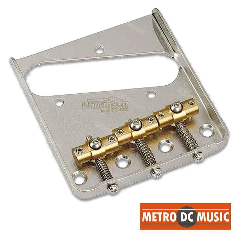 METRO DC MUSIC TELE BRIDGES & COVERS Wilkinson by Gotoh Swivel Saddle Bridge with Screws and Saddle Wrench NEW