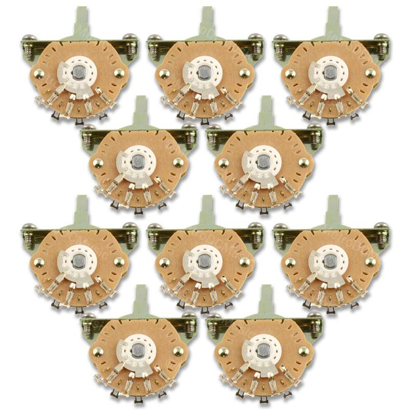 OAK-GRIGSBY SWITCHES BULK 10-PACK 5-WAY OAK-GRIGSBY SWITCH FOR STRATOCASTER STRAT NEW FREE SHIPPING