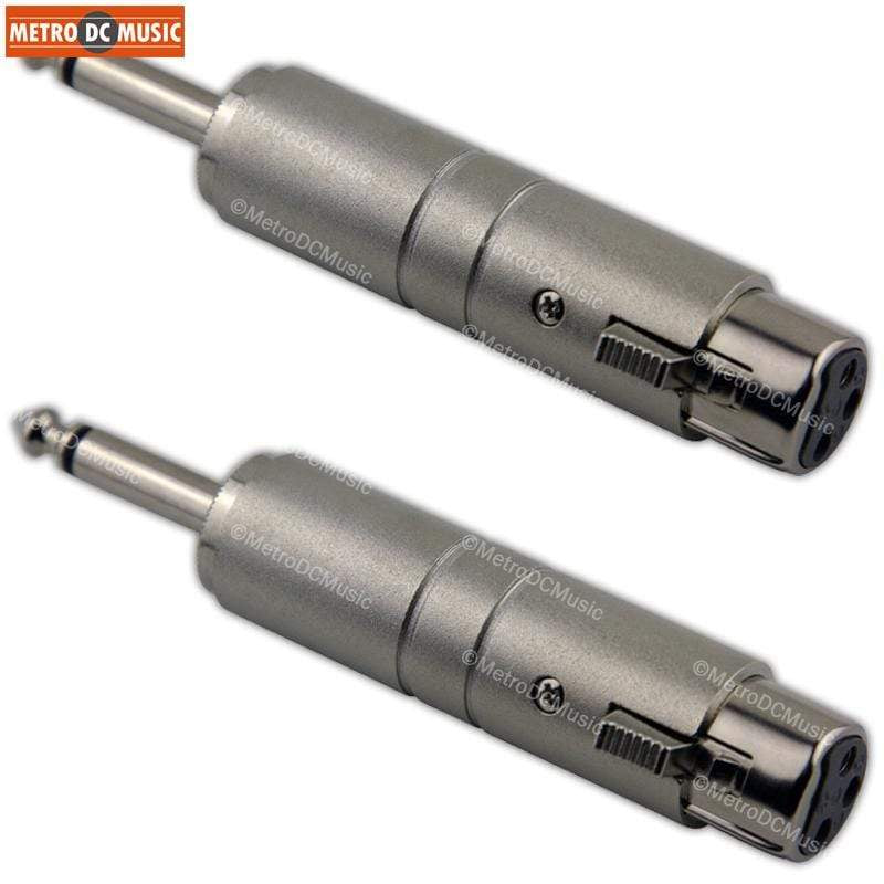 "PIG HOG ADAPTERS 2-Pack Pig Hog Line Transformer XLR Female to 1/4"" Mono Male Converter Lo-Z Hi-Z"