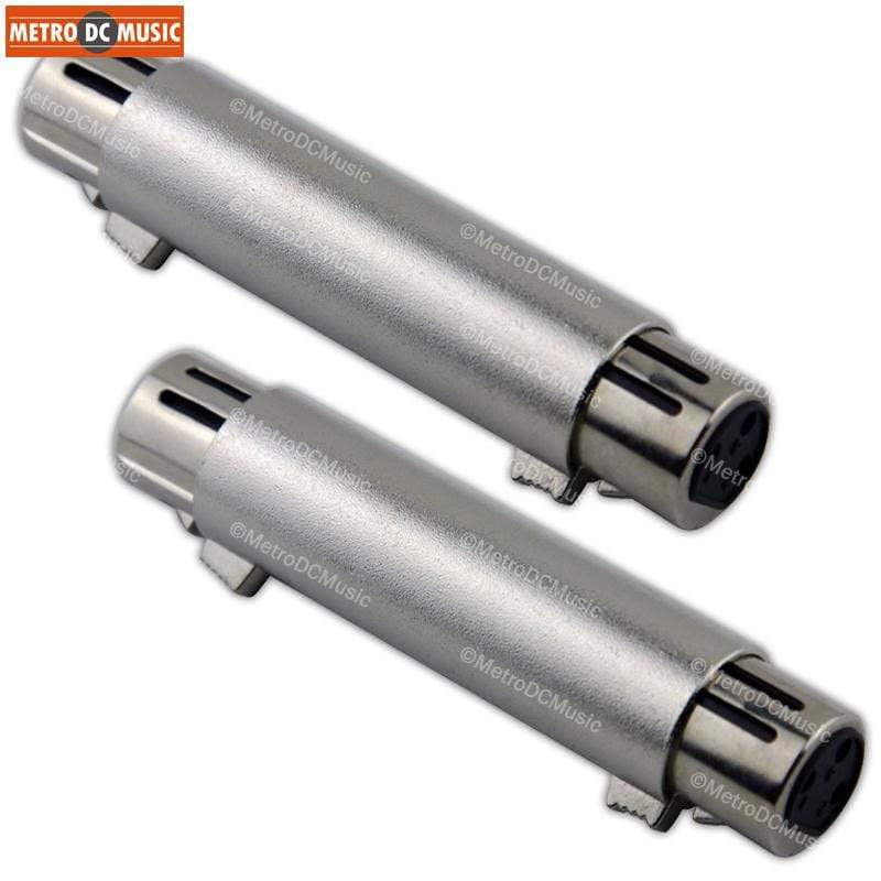 PIG HOG ADAPTERS 2-Pack Pig Hog XLR Female to XLR Female Coupler Adapter Converter Gender Changer