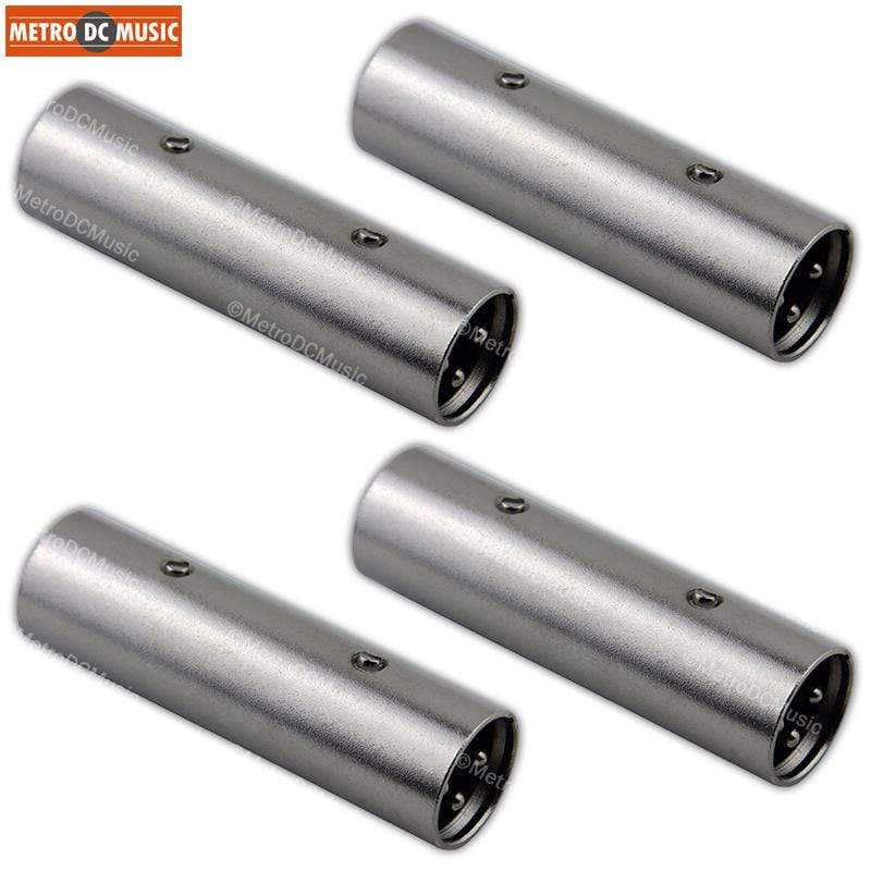 PIG HOG ADAPTERS 4-Pack Pig Hog XLR Male to XLR Male Coupler Adapter Converter Gender Changer NEW