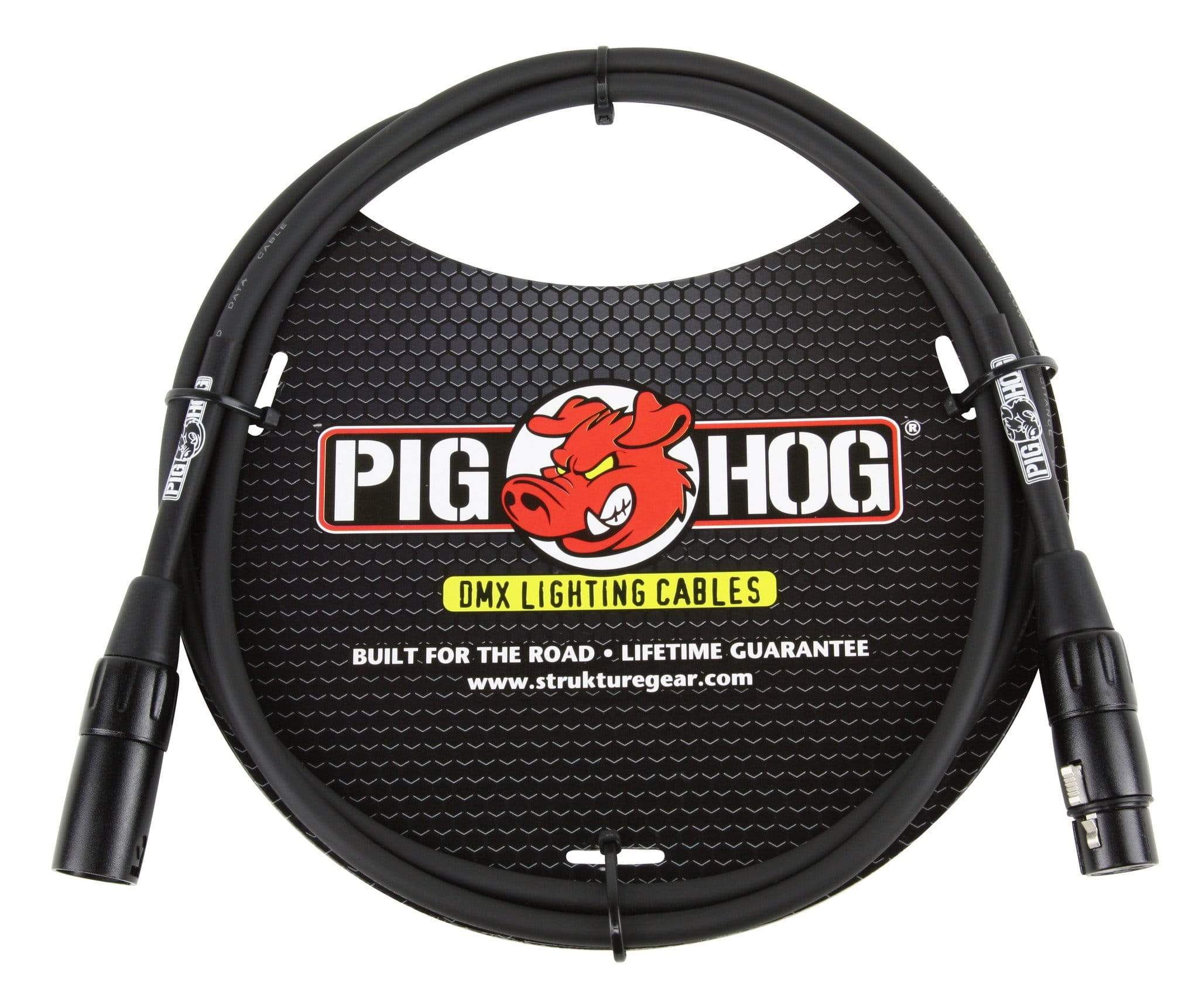 PIG HOG DMX LIGHTING Pig Hog 3-Pin DMX Lighting Equipment Data Cable 5' foot Low Capacitance