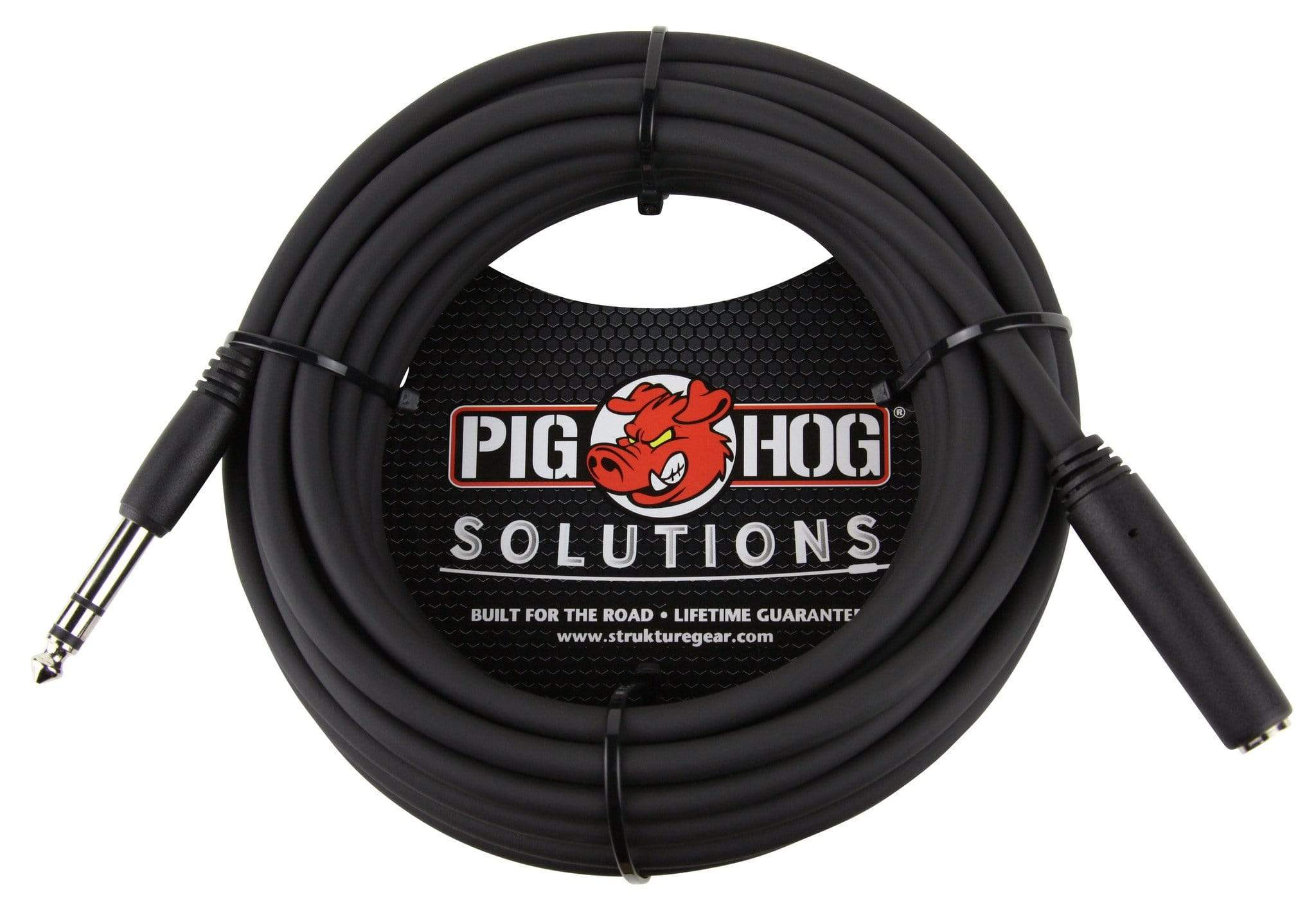 "PIG HOG HEADPHONE EXTENSION CABLES Pig Hog 25 ft Headphone Extension Cable 1/4"" Stereo TRS Male to Female Cord NEW"