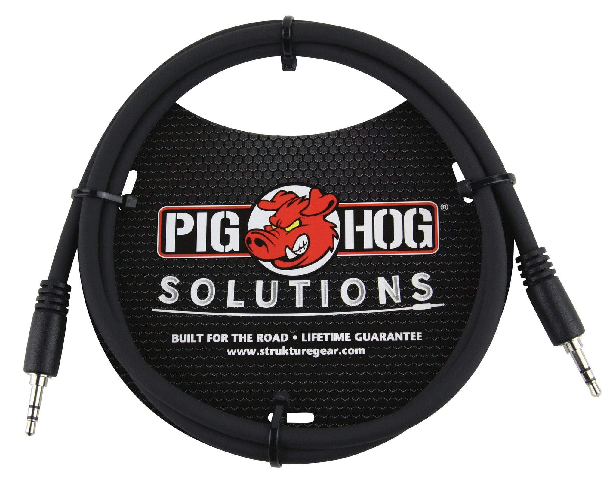 "PIG HOG INTERCONNECT CABLES Pig Hog 3 ft 3.5mm TRS Stereo Male Plug Cable 1/8"" Mini Patch Phone Pad Audio"
