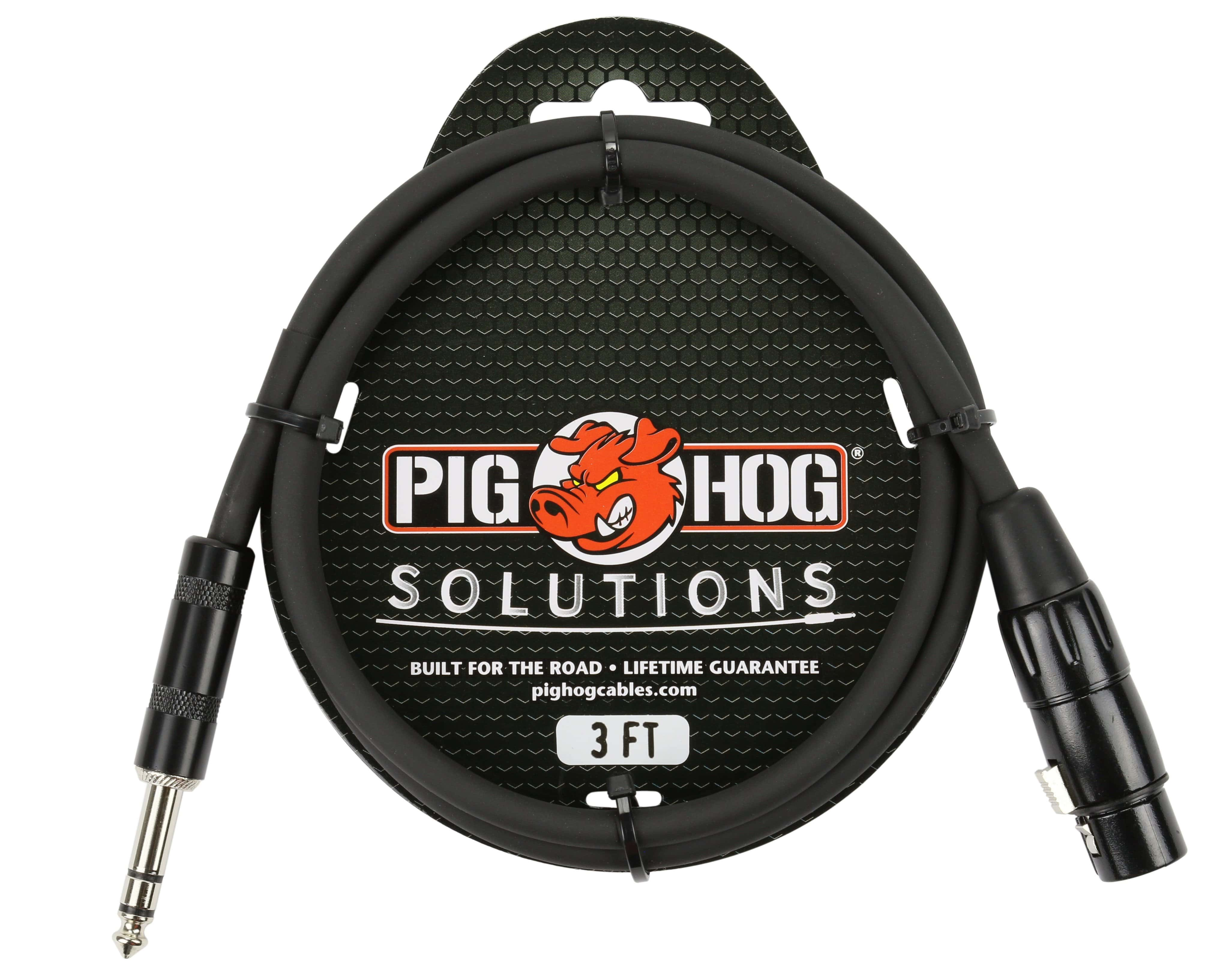PIG HOG INTERCONNECT CABLES Pig Hog 3ft TRS Male to XLR Female Balanced Cable