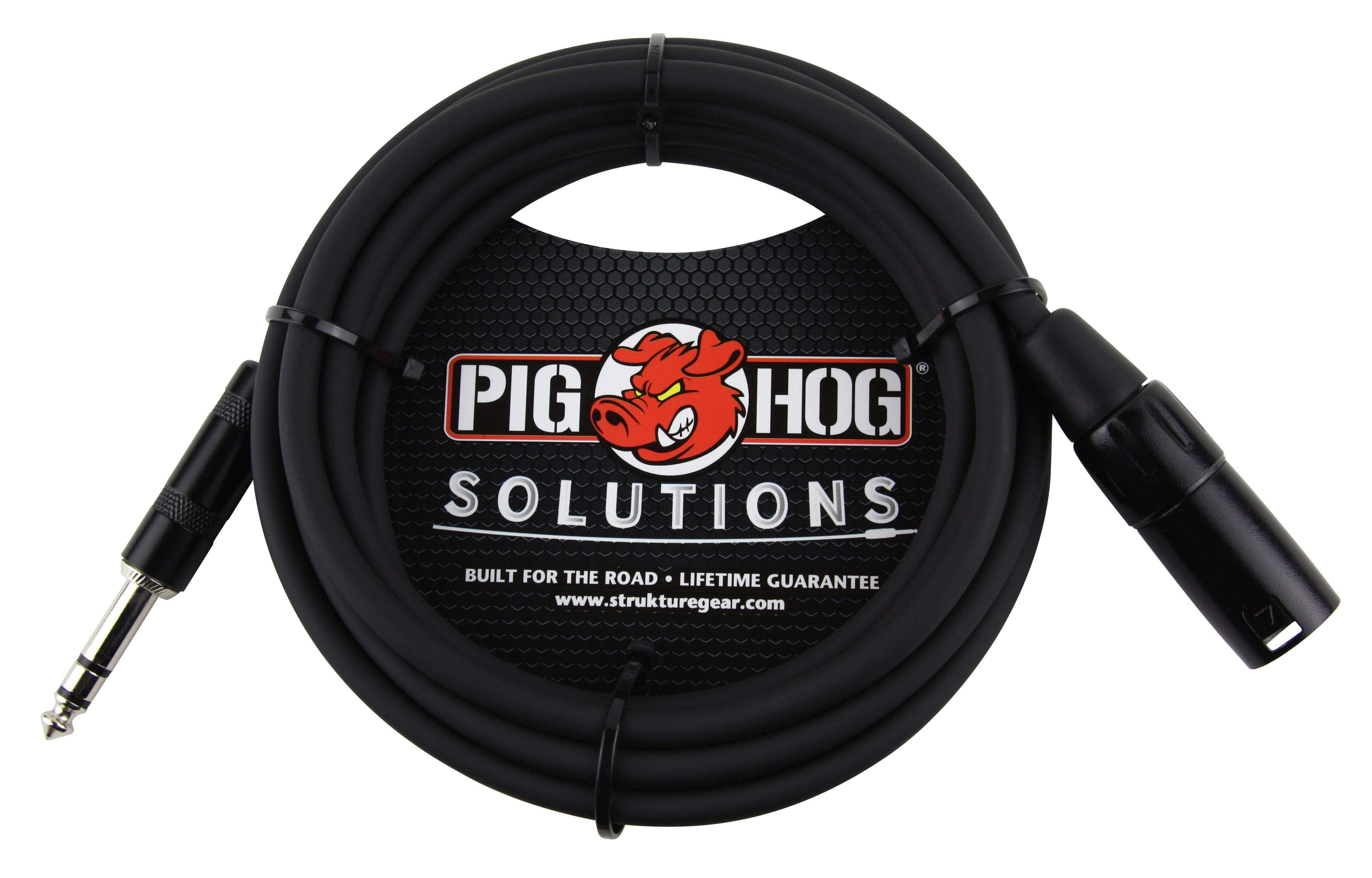 PIG HOG INTERCONNECT CABLES Pig Hog 50ft TRS Male to XLR Male Balanced Cable
