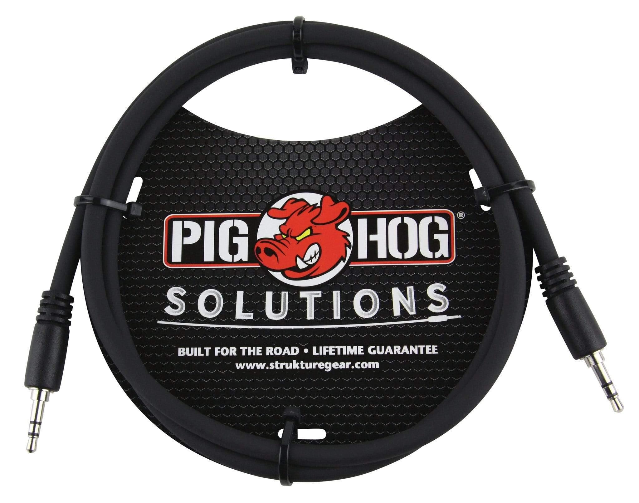 "PIG HOG INTERCONNECT CABLES Pig Hog 6 ft 3.5mm TRS Stereo Male Plug Cable 1/8"" Mini Patch Phone Pad Audio"