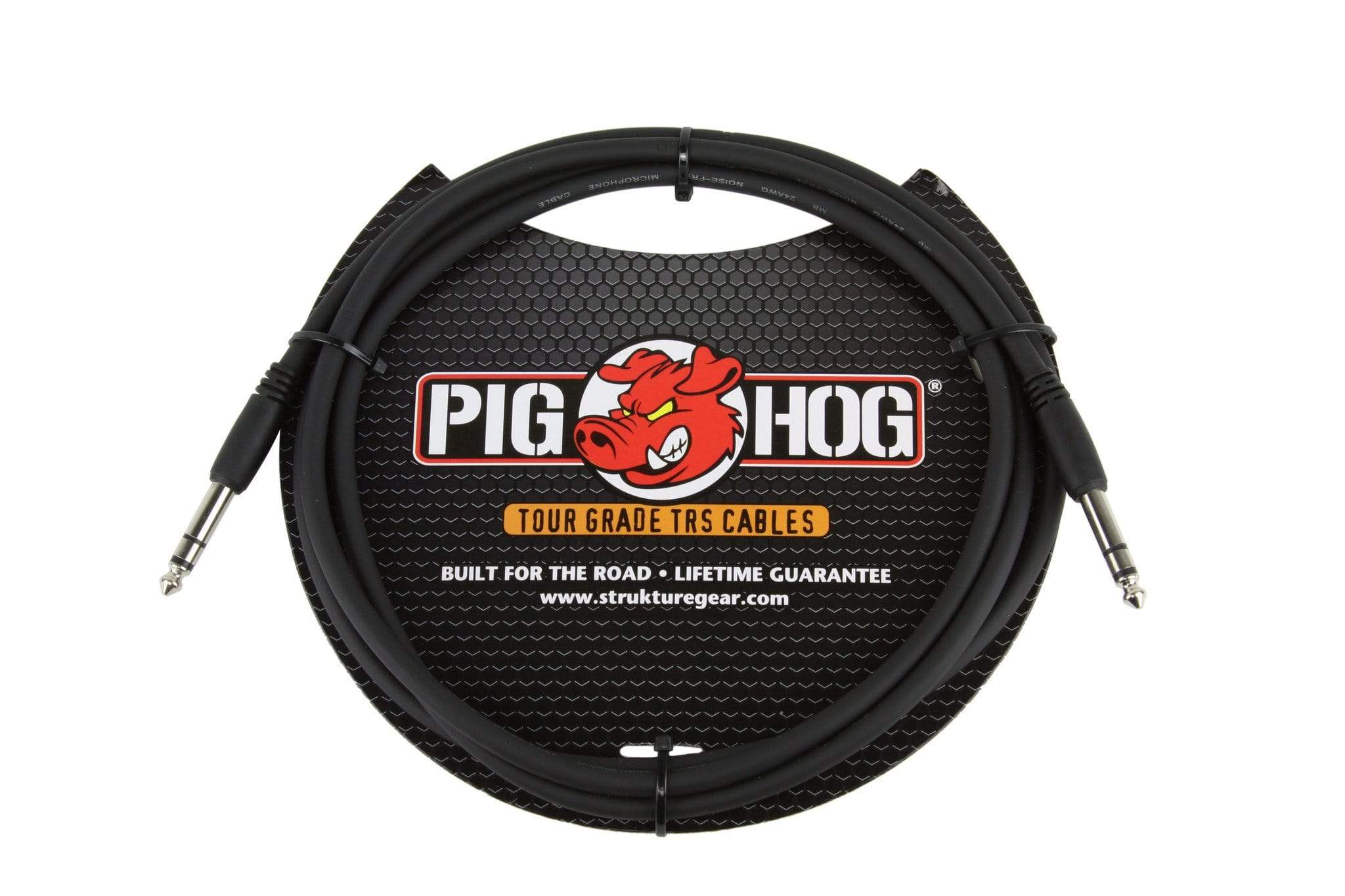 "PIG HOG INTERCONNECT CABLES Pig Hog 6 FT Foot 1/4"" TRS Balanced Stereo to 1/4"" TRS Cable Plug 8mm"