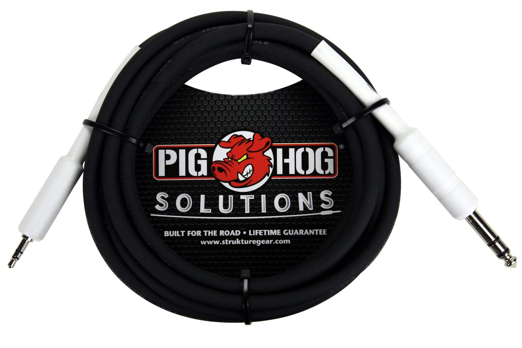 "PIG HOG INTERCONNECT CABLES Pig Hog 6 FT Foot 1/8"" Mini Plug to 1/4"" TRS Plug Cable Stereo MP3 Phone Mixer"