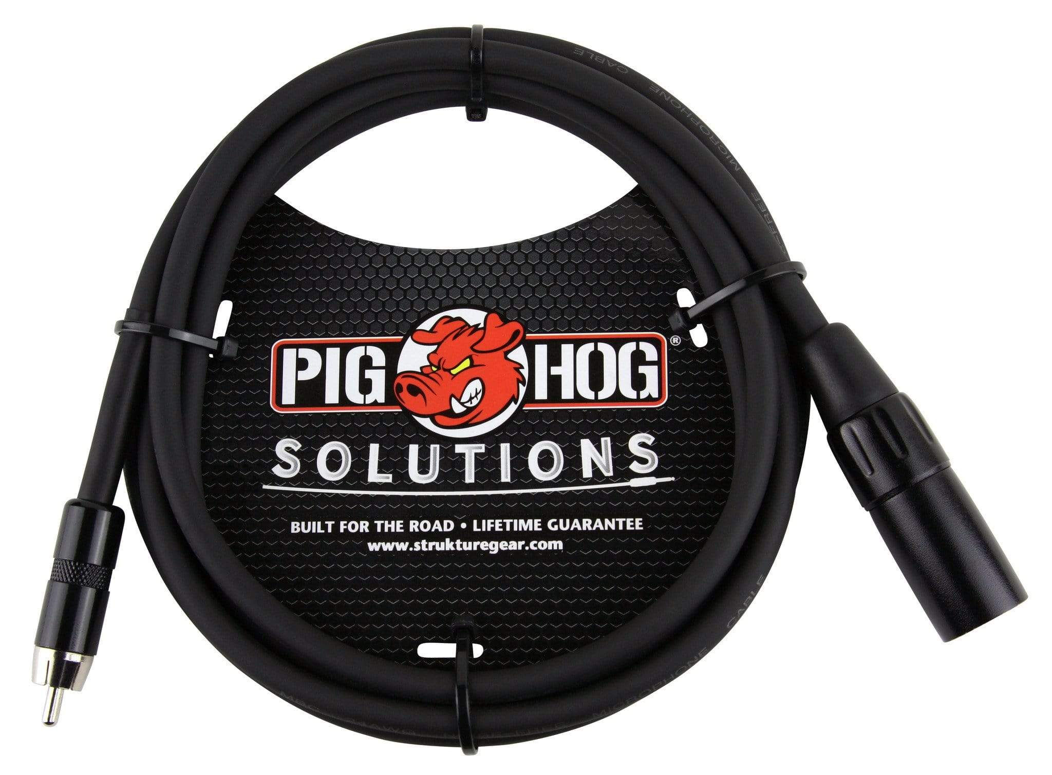 PIG HOG INTERCONNECT CABLES Pig Hog 6 ft XLR Male to RCA Male Audio Cable Adapter Plug Cord NEW