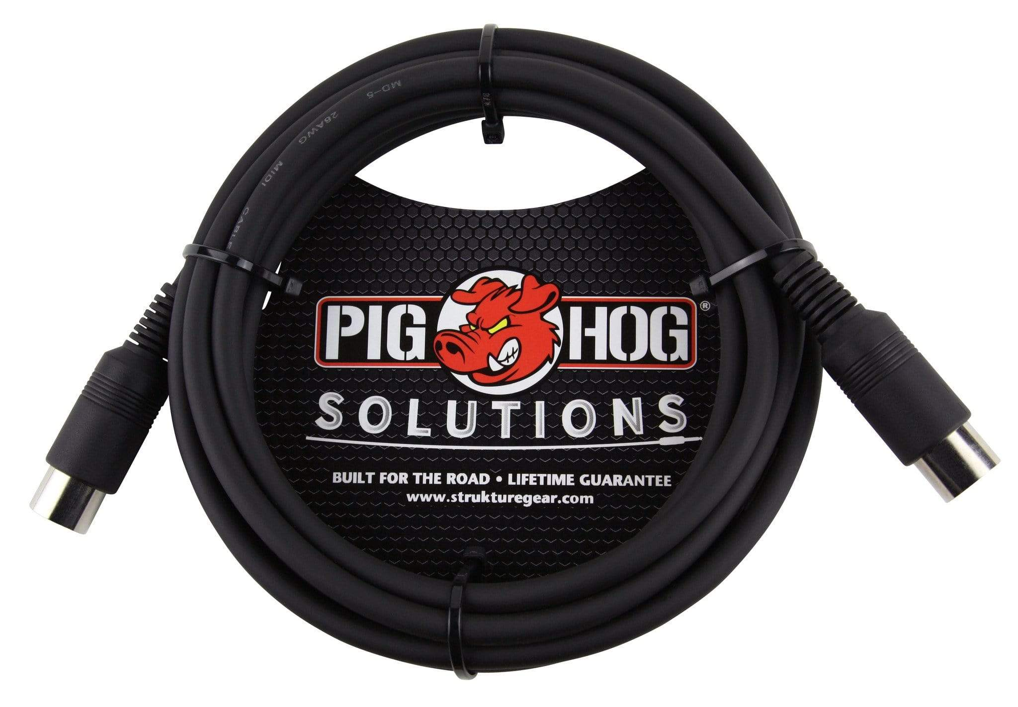 PIG HOG MIDI CABLES Pig Hog 10 ft MIDI Cable Black Instrument Interface PMID10 foot male to male NEW