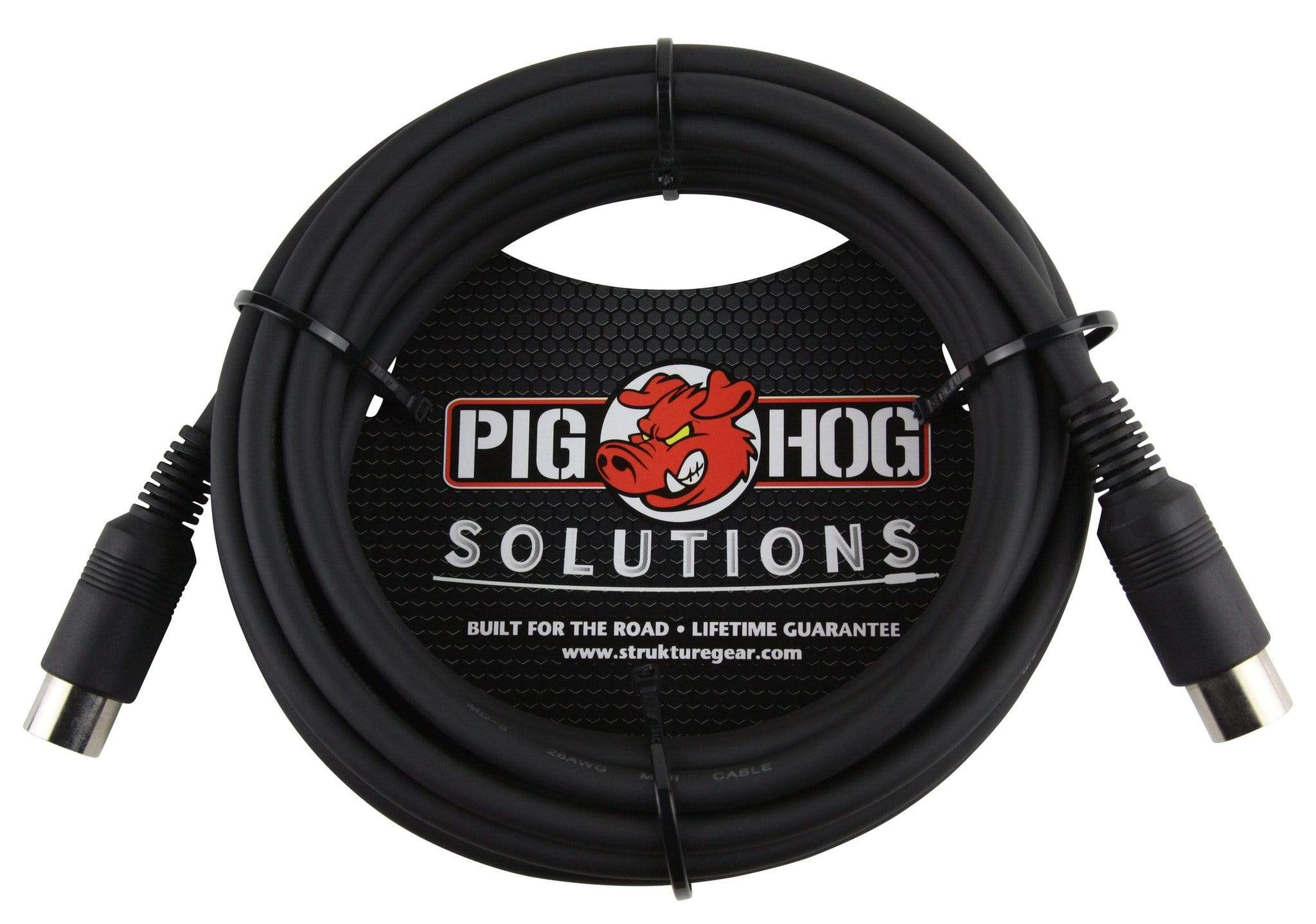 PIG HOG MIDI CABLES Pig Hog 15 ft MIDI Cable Black Instrument Interface PMID15 foot male to male NEW
