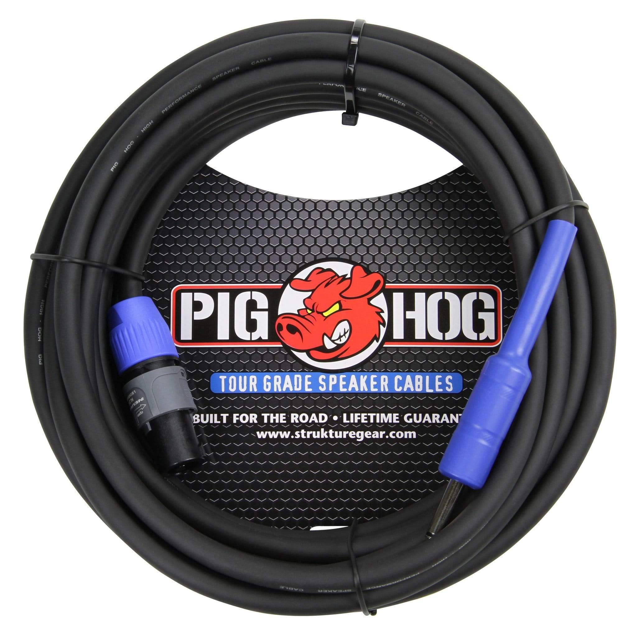 "PIG HOG PASSIVE SPEAKER CABLE PIG HOG 25FT SPEAKER CABLE 14 GAUGE Neutrik NL2FX SPEAKON to 1/4"" PHSC25S14"