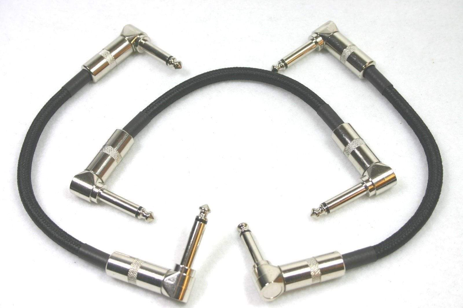 "PIG HOG PATCH CABLES 3 PACK 6"" Right-Angle 1/4 Mono Guitar Effect Pedal Board Cable Patch Cord Tweed"
