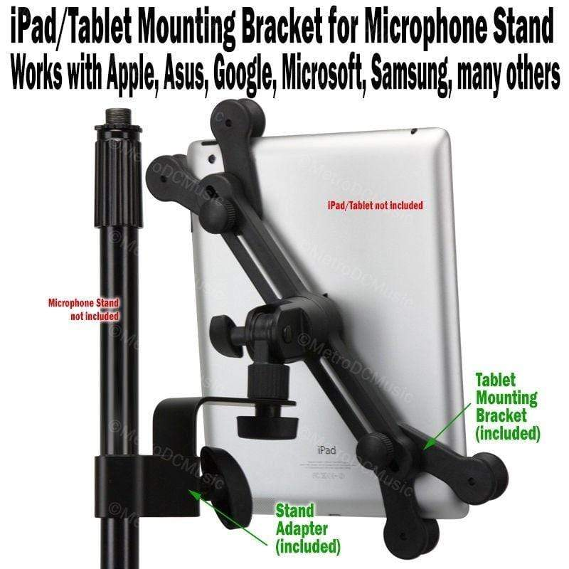 STRUKTURE IPAD TABLET MOUNT iPad Tablet Mounting Bracket for Microphone Stand Mic Clamp Yoke Holder Clip NEW