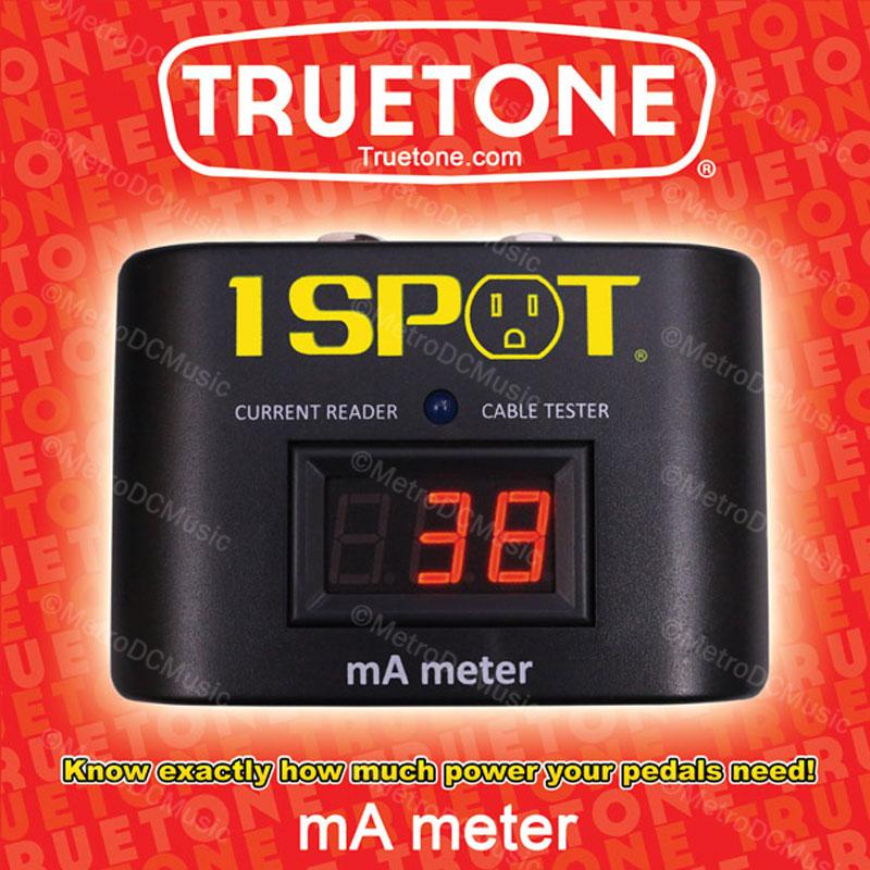 TRUETONE PEDAL ACCESSORIES TRUETONE MAM 1-Spot Milliamp Power Meter Pedal Current Reader and Cable Tester