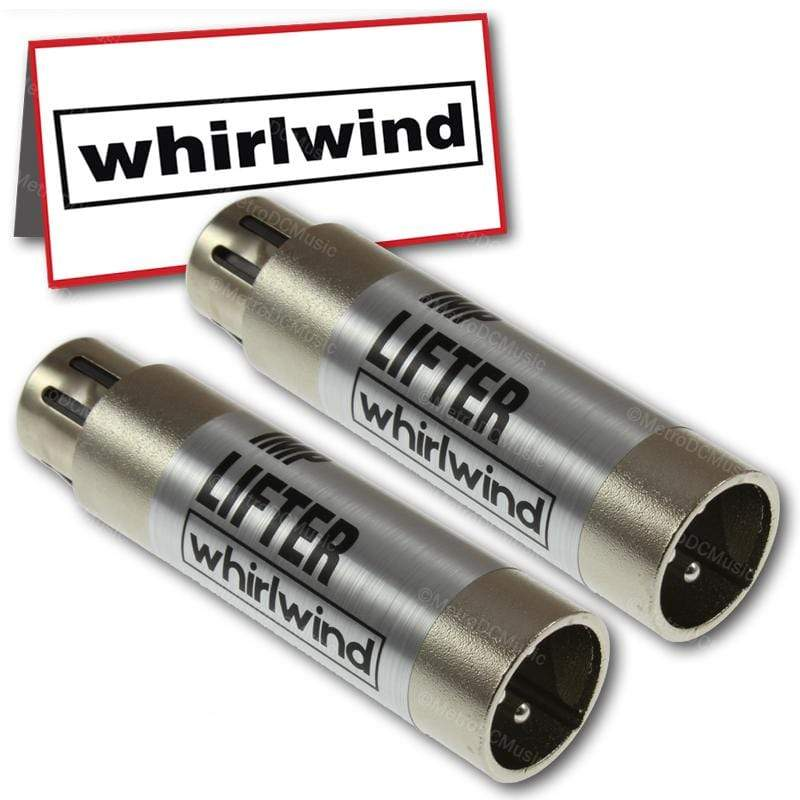 WHIRLWIND ADAPTERS 2-Pack Whirlwind LIFTER XLR for Ground Loop Interference Hum Buzz Noise Made USA