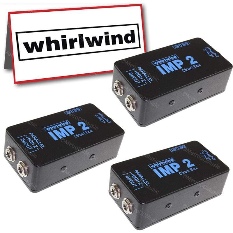 "WHIRLWIND DIRECT BOX 3-Pack Whirlwind IMP 2 Direct Box Passive Transformer 1/4"" XLR Ground Lift NEW"
