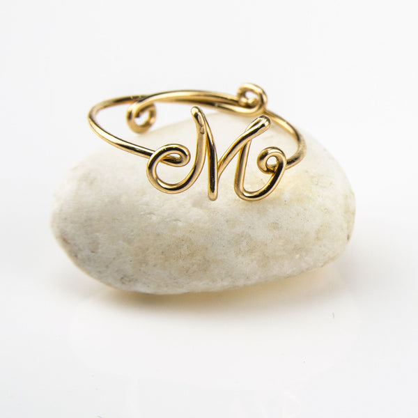Sienna 14k Gold Filled Handmade Personalised Wire Jewelry Ring,WJRG01001G