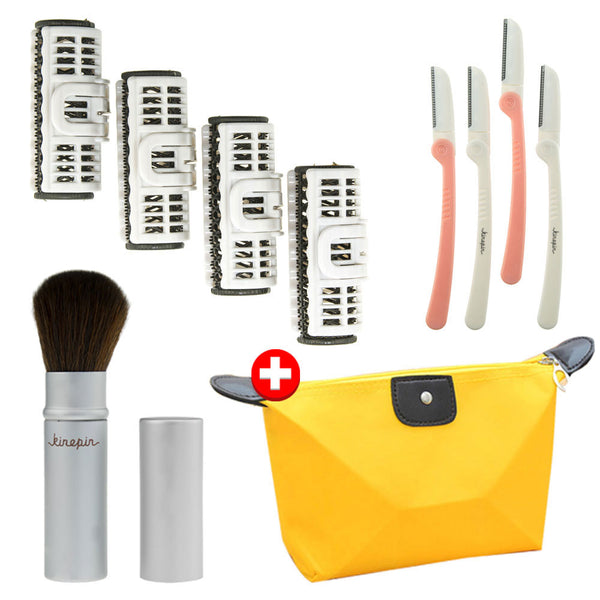 3 pieces Styling Tools Accessories Beauty Gift Set plus Makeup Pouch Bag, FSBTAS23