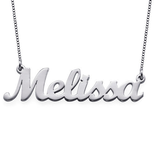 Sienna Small 925 Sterling Silver Rhodium Plated Script Customized Name Jewelry Necklace, CMNCKSCSE