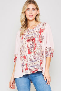 Paisley+Stripes Top