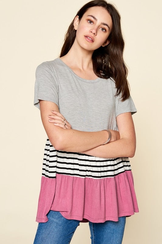 Color Block + Stripe Top