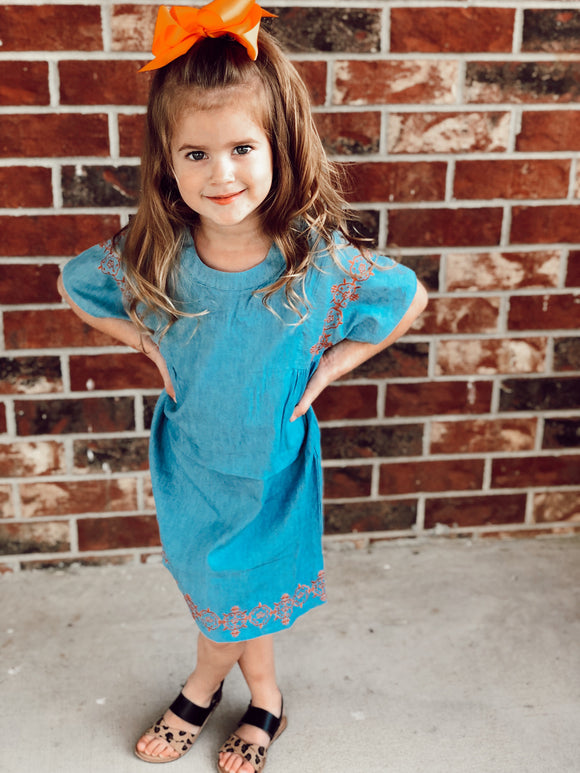 Fall Denim Toddler Dress