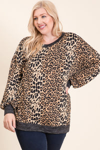 Plus Leopard Top