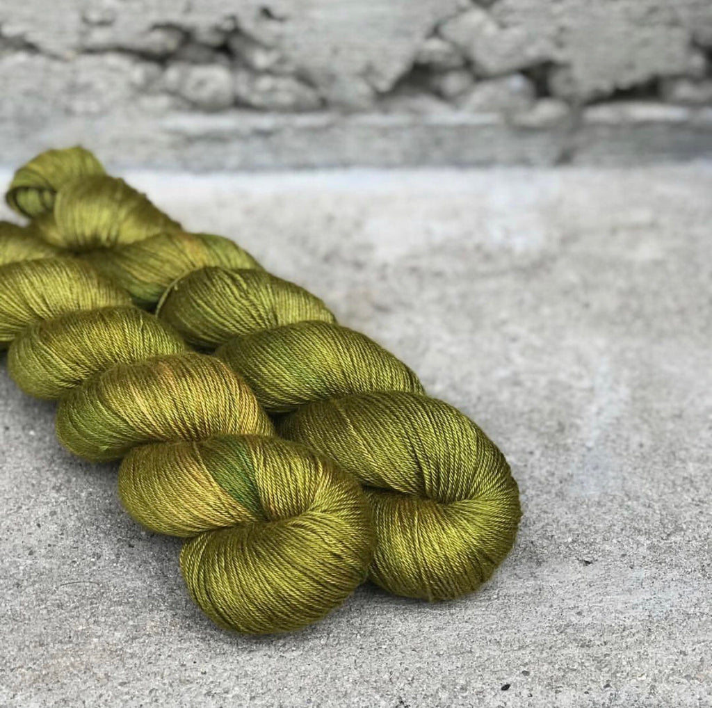 Firefly Spruce on Dune Baby Camel and Silk Sock