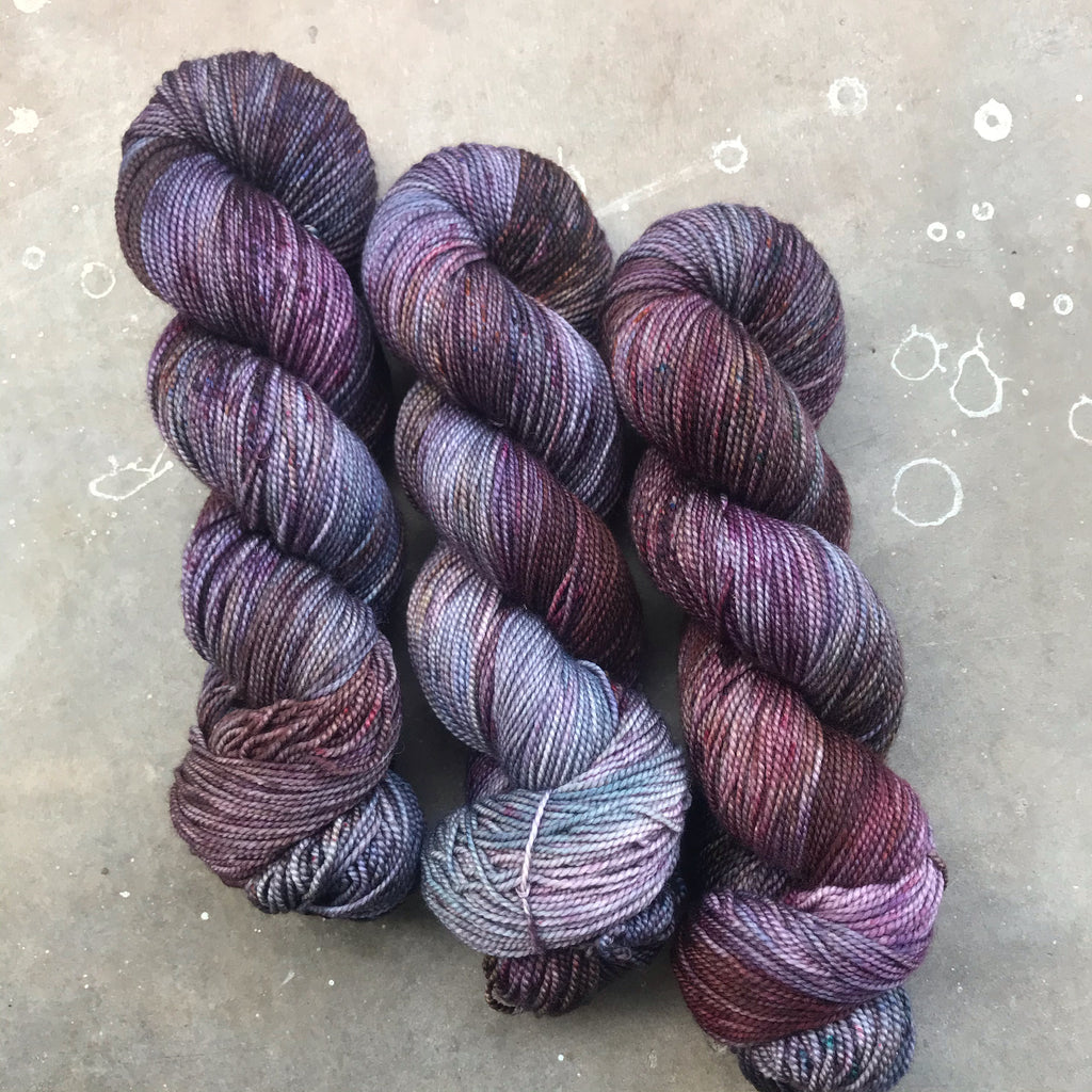 Damson Mist on Swizzle Twist Sock