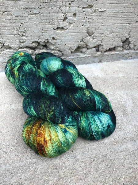 Earthquake Weather on Divine Silky Merino Lace
