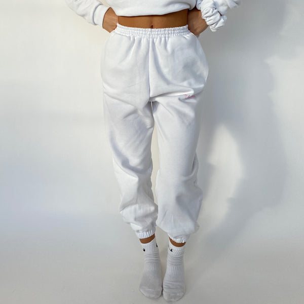 Stay Home Club Oversized Joggers - White