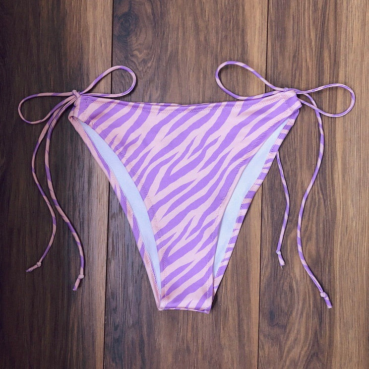 Lilac Zebra Bottoms (Various Styles)