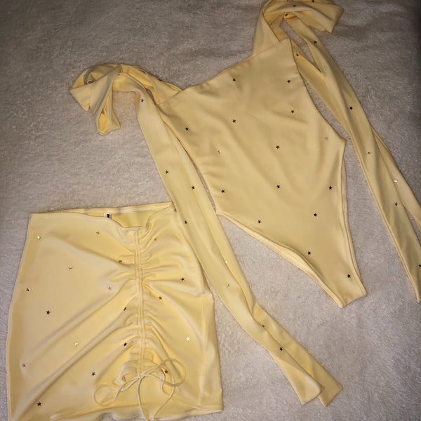 Lemon Itty Bitty Star Co-ord (Various Styles)