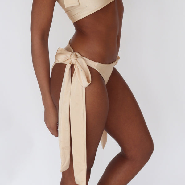 Extra Thick Side Tie High Rise Bottoms (Various Fabrics)