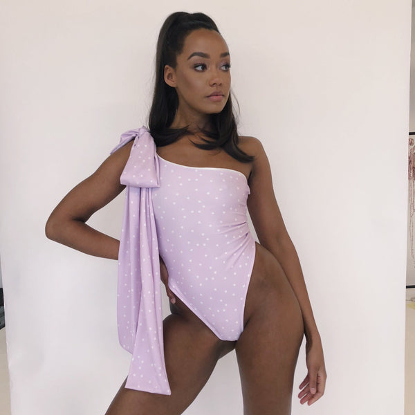 Custom Oversized One Shoulder Tie Body (Various Fabrics)