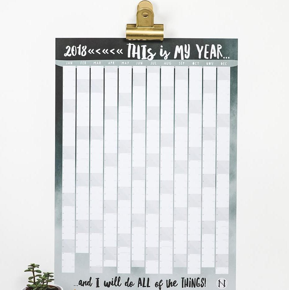 2018 Contemporary Wall Planner 'This Is My Year'