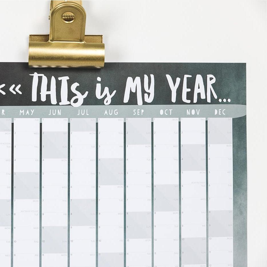 2018 Wall Calendar for the home 'This Is My Year'