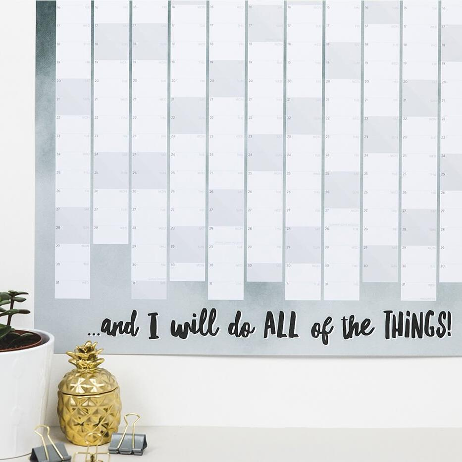 2018 Wall Planner for the home 'This Is My Year'