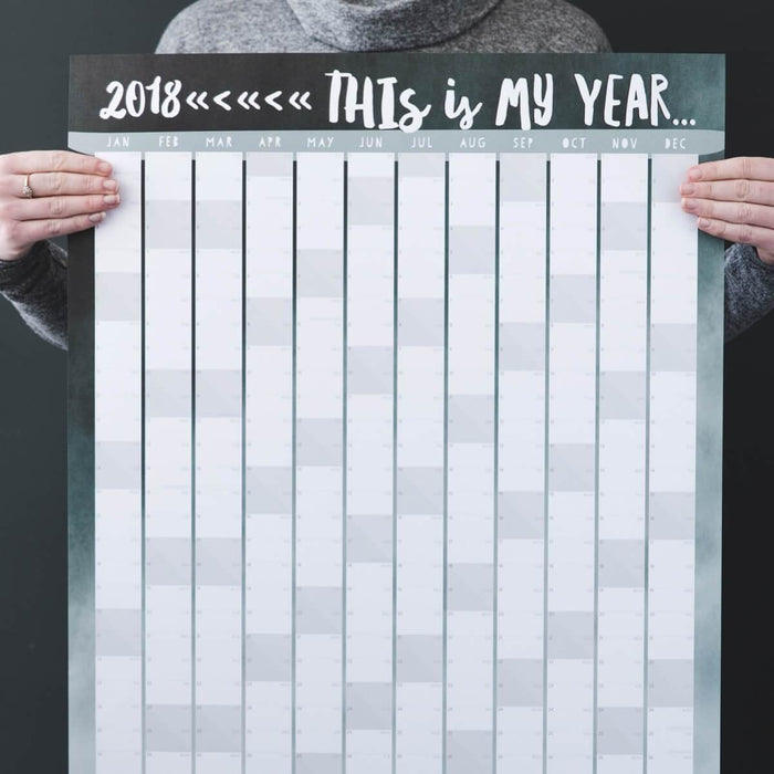 'This Is My Year' 2018 Modern Wall Planner