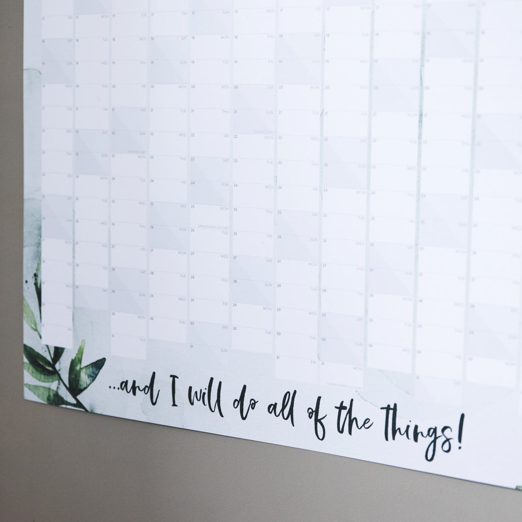 'This Is My Year' 2020 Botanical Wall Planner