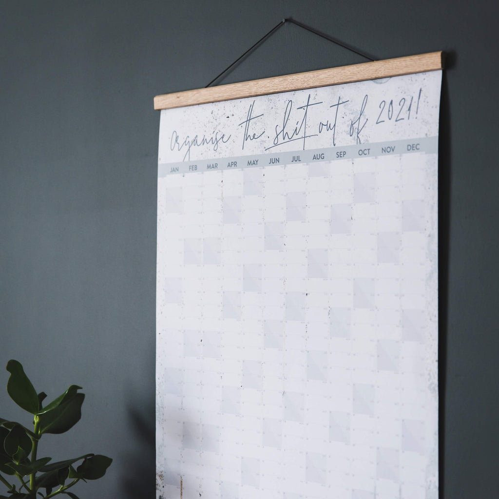 'Organise The Shit Out of 2021' Wall Planner