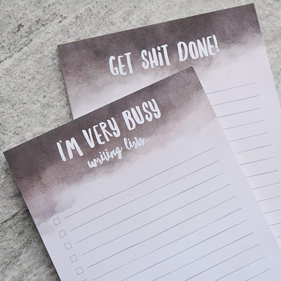 'Im Very Busy' & 'Get Shit Done' A5 Notepads